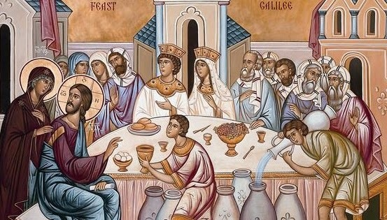 Wedding feast_at_Cana_icon